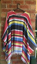 MEXICAN PONCHO Spanish Costume Wild West Cowboy Party Bandit Fiesta New