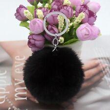 Keychains Fluffy Fur Pom Soft Rabbit Keyring Women Bag Pendant Jewelry Keytags