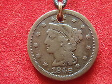 Junk Drawer-Not Junk-Old Coin Necklace-1846 U.S.Large Cent-172 Years Old-Look!