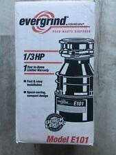 Evergrind InSinkErator Garbage Disposal ~ 1/3 Hp ~ Model E101