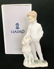 Lladro Mint #6902 My Loyal Friend Boy With Dog Spain 10� Figurine J113