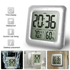 Waterproof Wall Clock Shower Bathroom Digital Clock Table Hygrometer  Q