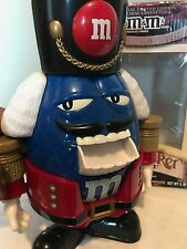 M&M's Nutcracker Toy Soldier Blue Holiday Limited Edition Candy Dispenser 2009