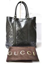 GUCCI GG 223668 interruzione Guccissima Borsetta Tote ascella Shopper Bag Black in buonissima condizione