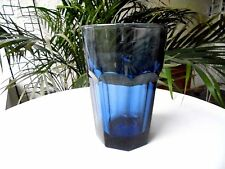 "Set of 6 Libbey Gibraltar Dusky Blue Flat Tumblers 5"" Tall Made in the USA"
