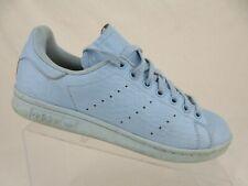 ADIDAS Stan Smith Blue Sz 8 Women Croc-Embossed Fashion Sneakers