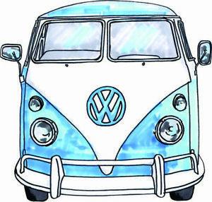 Kombi sticker blue