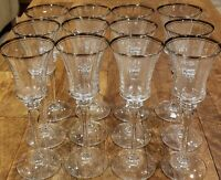 "* Set of 12 * Mikasa Crystal JAMESTOWN PLATINUM 8-3/4"" Wine Goblets"