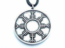 Viking Shield Helm of Awe, Double Sided Pendant, Symbolic Nordic Warrior Jewelry