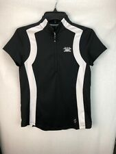 WOMENS BLACK JOFIT GOLF POLO SHORT SLEEVE SHIRT SIZE S