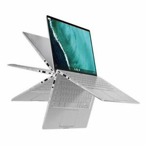 "ASUS 2in1 14""Touchscreen Chromebook Intel Core m3 4GB Memory 64GB eM BLUE SILVER"