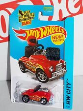 Hot Wheels New For 2015 Pedal Driver #74 Red From Factory Set