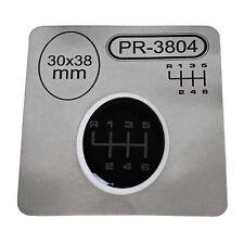 1x Schalthebel Silikon Aufkleber für Schaltknauf 3D Sticker | 30x38mm | PR-3804