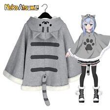 Japanese Game Neko Atsume Cat Cloak Lolita Girl Women Hoodies Coat Cape Cartoon