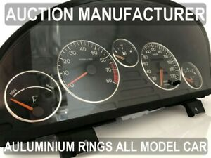Peugeot 405 1987-1996  Chrome Gauge Trim Dial Rings Polished Alloy New x5