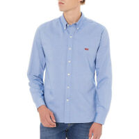 Levi's Men's Housemark Classic Fit Long Sleeve Blue Shirt Size XL XXL