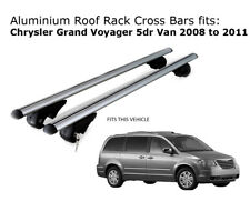 Aluminium Roof Rack Cross Bars fits Chrysler Grand Voyager 04/2008 to 07/2011