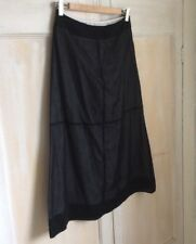 Mexx A Line Sheer Black Cotton Skirt Size 12 With White Lining
