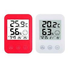 Weather Station with Temperature Humidity Meter LCD Display Digital Wall Clock