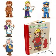 Kids Toy Book Puzzle for Toddlers Educational Early Learning Toys- Occupation 2