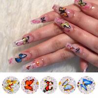 Nagel Folien Abziehbilder Schmetterling Transfer Stickers Nail Art Dekoration