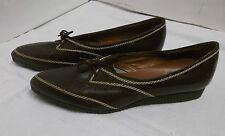 60er NOS Damenschuhe Modica Italien Schnürer  Leder Gr. 37,5 Vintage shoes