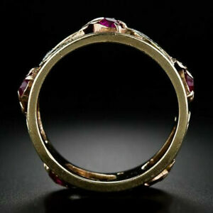 Fashion 925 Silver,Gold Rings Women Wedding Punk Jewelry Party Gift Size 6-10