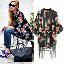 Regular Size Chiffon Floral Coats & Jackets for Women