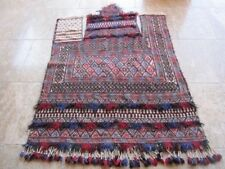 Antique Afghanistan Horse Blanket, wool, handwoven, wall hanging, mint cond.