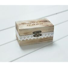 Engagement Wedding Wooden Jewelry Box Love Unique Ring Box Personalized Engraved