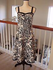Dressbarn Women's 10 Dress Floral Sleeveless Black / White NWOT