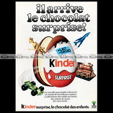 KINDER SURPRISE Chocolat Ferrero 1976 - Pub Publicité Original Advert Ad #A1145