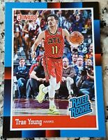 TRAE YOUNG 2018 Donruss #1 Draft Pick 1988 RATED Rookie Card SP RC Hawks $ HOT $