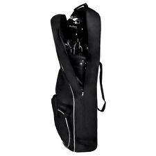 Black Foldable Golf Bag Travel Cover with Wheel Lightweight Oxford