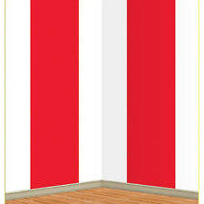 4th of July Red & White Striped Party Scene Backdrop Room Roll Wall Decoration