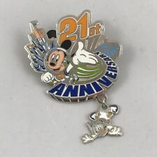Tokyo Disneyland-21st Anniversary pin-2004-Mickey Mouse-Donald Duck-Pristine
