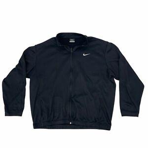 Nike Golf Jacket Men Size XL Black Stay Warm Therma Fit Full Zip Athletic Fleece