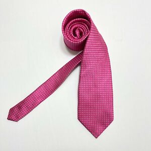 Donald J Trump President Signature Collection Silk Necktie Pink Woven EUC