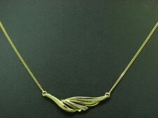 8kt 333 Gelbgold Collier mit Diamant Besatz / 2,6g