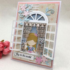 Window Frame Die Cuts Metal Cutting Dies Scrapbooking Embossing Card Paper Craft