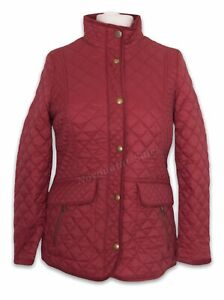 Joules Newdale Quilted Coat Burgundy Size UK 14 BNWT NEW