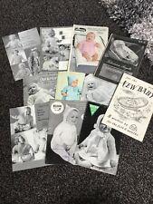 11 X Vintage Baby Knitting Patterns