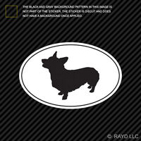 Corgi Euro Oval Sticker Die Cut Decal Self Adhesive Vinyl dog canine pet