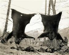 MR. AND MRS. BARR WITH 7 BIG BROWN BEAR HUNTING PHOTO