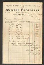 """SAINT-CHAMOND (42) VITRERIE / GLACES & ENCADREMENTS """"Antoine BONENFANT"""" en 1949"""