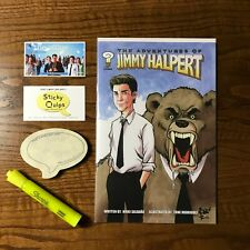 """""""The Office"""" used prop marker + Sticky Quips and Adventures of Jim Halpert comic"""