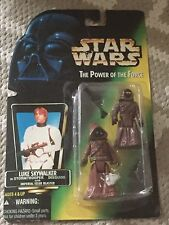 Miss carded Star Wars Figures Bootleg Toy  Jawa Figures On Luke Skywalker Card