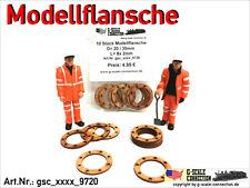 Spur G - 10 Stück Modellflansche für Rohre/Ladegut - Flansch Lasercut 20/30mm