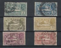 India KGV 1929 Airmail Set SG220/225 VFU JK2010