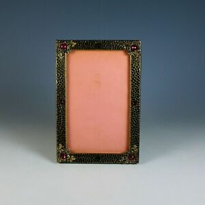 Antique Jeweled Picture Photo Frame, Cabochons